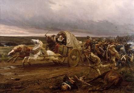 Girardet - Déroute de Cholet (Depiction of the War in the Vendée)