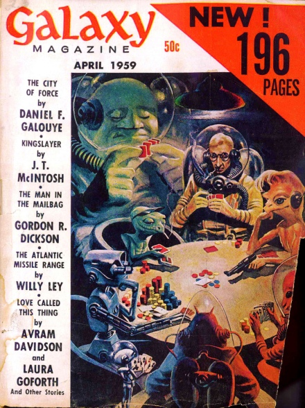 Aliens playing poker.