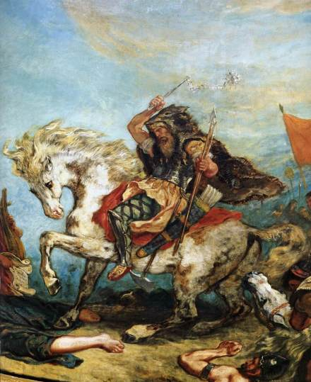 Attilla and His Hordes Destroy Italy and The Arts - Eugene Delacroix