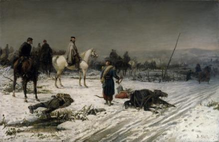 ITALY - CIRCA 2002:  Garibaldi in Dijon, 1871, by Sebastiano de Albertis (1828-1897), 1877, oil on canvas. Franco-Prussian War, Italy, 19th century. (Photo by DeAgostini/Getty Images)
