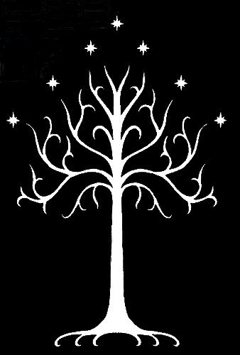 The white tree of Gondor on the flag of Elendil